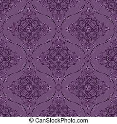 seamless, luxo, padrão floral