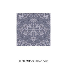 Seamless luxury grey floral wallpaper