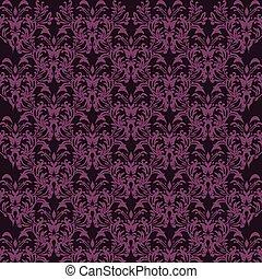 seamless luxury ornamental background. purple Damask seamless floral pattern. Royal wallpaper.