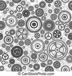 seamless, mécanisme, gearwheel