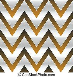 seamless, métal, zigzag, pattern.