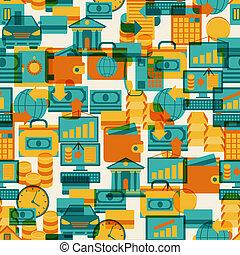 seamless, mönster, av, bankrörelse, icons.