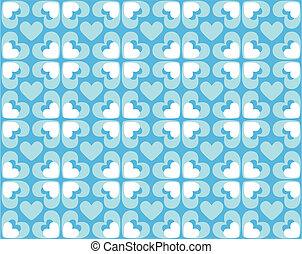 seamless, mönster, av, hjärtan, -, vektor, avbild