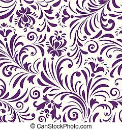 seamless, mönster, med, abstrakt, blomningen