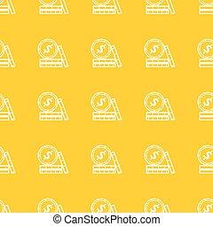 seamless, mönster, med, mynter, ikonen