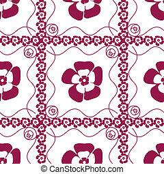 seamless, mönster, med, viol blommar