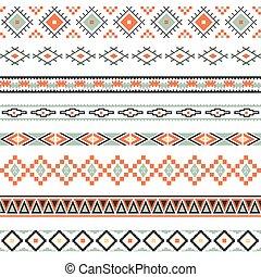 seamless, mönster, stam, design
