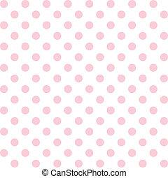seamless, mønster, polka prik, pastel