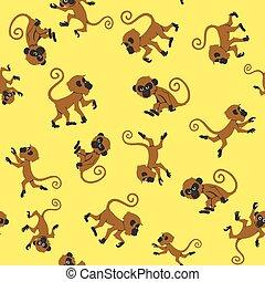 seamless, małpy, próbka