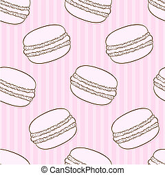 Seamless macaroon pattern