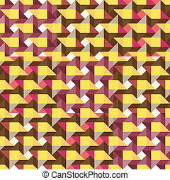 colorful squares of geometric shading