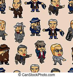 seamless mafia pattern  - seamless mafia pattern
