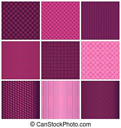 Seamless magenta patterns