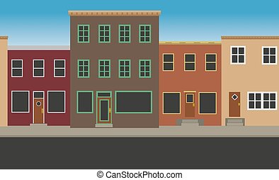 main street stock illustrations 755 main street clip art images and rh canstockphoto com clipart street art streets clipart