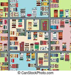 seamless, mapa, de, ciudad