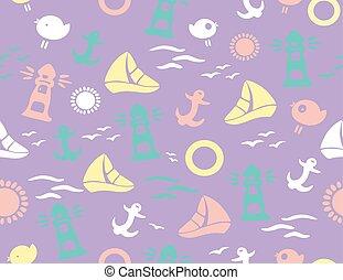Seamless marine pattern.