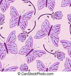 seamless, mariposa, camouflage.j