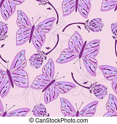 seamless, mariposa, camuflaje