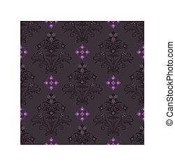 seamless, marrom, e, cor-de-rosa, papel parede