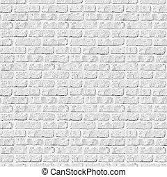 seamless, mattone bianco, parete, fondo.