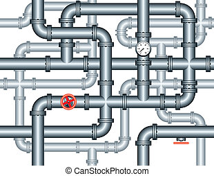 seamless maze of plumbing pipes - seamless repeating pattern...