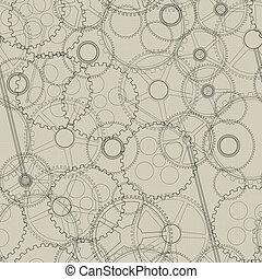 Seamless mechanical gear - Seamless pattern, texture with...