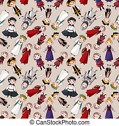seamless medieval people pattern - seamless medieval people...