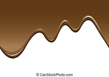 illustrations of melted chocolate, can be connected seamless.