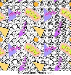 Seamless memphis pattern