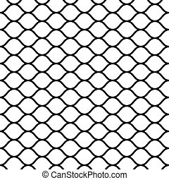 seamless mesh netting with curved wavy lines bars vector ...