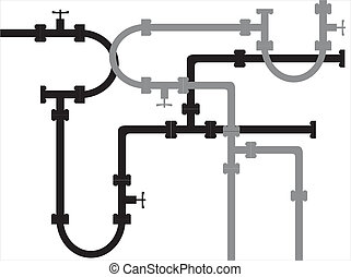 Seamless metal pipe pattern