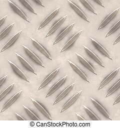 Seamless Metal Ridge Background - Seamless Metal Tread Ridge...