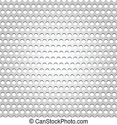 Seamless metal surface, gray background perforated texture