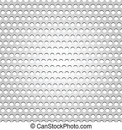 Seamless metal surface