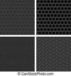 Seamless Metal Texture Patterns - Vector Metal Texture...