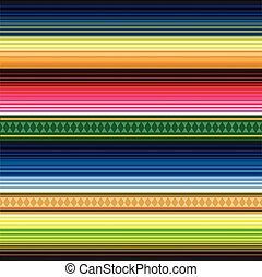 Seamless Mexican Rug Pattern - Seamless traditional Mexican...