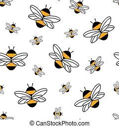 seamless, modèle, abeille