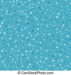 seamless, modèle, de, beaucoup, flocons neige, sur, bleu, arrière-plan., noël, hiver, thème, pour, cadeau, wrapping., nouvel an, seamless, fond, pour, website.