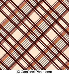 seamless, modèle, diagonal, brun