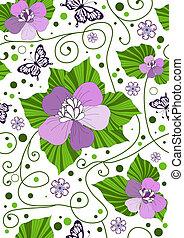 seamless, modèle, floral