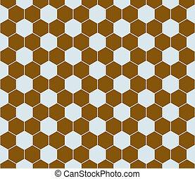 seamless., modèle, hexagone