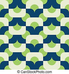 seamless mod in greens - mod vector pattern