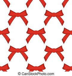 seamless, model, buigingen, achtergrond, wit rood