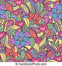 seamless, model, met, abstract, bloemen