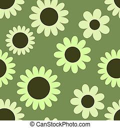 seamless, model, met, bloemen