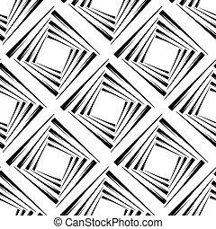seamless, model, s, čtverhran, vektor, ilustrace