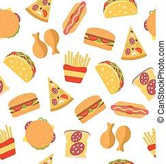 seamless, model, s, dát, hustě food, byt, ikona