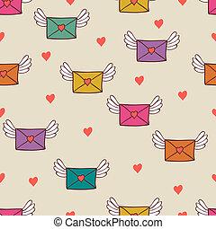 seamless, model, s, místo, letters., láska, mail.