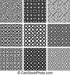 seamless, modelli geometrici, set.