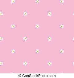 Rosa Ramage Seamless Baby Pink Fondo Piccolo Fiori Bianchi